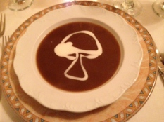 Wild mushroom soup at Joel Palmer House