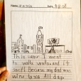 "too cute. ""this sumr I went to Walla Walla. and it such! Because my dad was wine tasting. All day."""