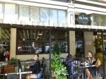 Olive sidewalk seating