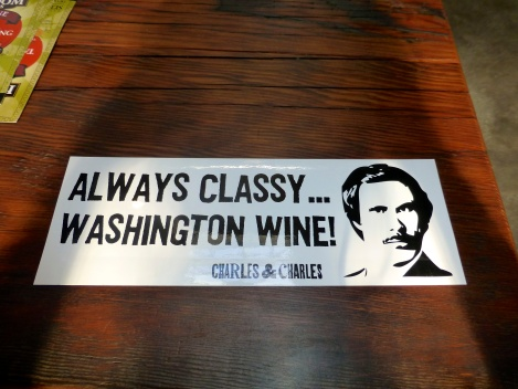 One of many cool bumper stickers at Charles Smith