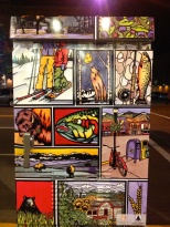 Artsy utility boxes on the street