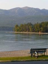 Whitefish Lake with ski trails beyond
