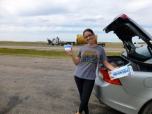 ::cottage cheese and saltines at the prettiest rest stop around. ha::
