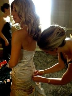 ::getting the bride even prettier::