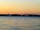 ::boats on lake Champlain at sunset::