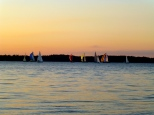 ::boats on lake Champlain at sunset::