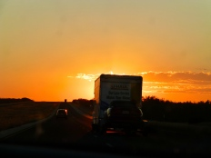 another lovely sunset on the drive