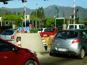 ::selling provisions (palta) at the toll booths::