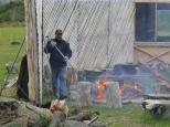 Prep for lamb BBQ