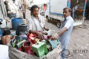 13th compound in Dharavi, the recycling area