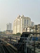 Hospital beyond the tracks