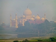 ::view of the Taj from Agra Fort::