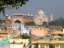 ::view of the Taj from the rooftops::