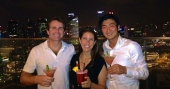 ::singapore slings at marina bay sands::
