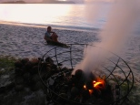 ::bonfire, beach, sunset and puppies (an excellent combo)::