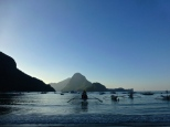 ::view from el nido town::