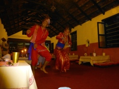::Nepali dancing at our welcome dinner::