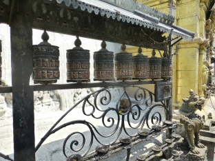 ::Tibetan prayer wheels::