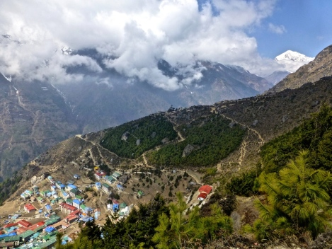 ::looking down on Namche::