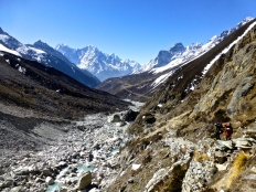 ::stunning views and porters working hard::