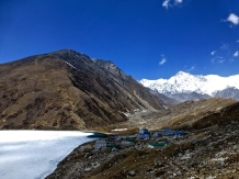 ::looking out at Gokyo Ri from the ridge::