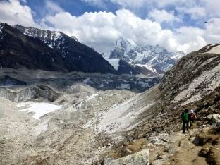 ::descending into the glacier::