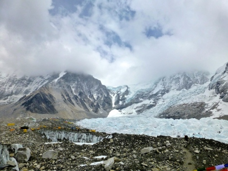 ::Everest base camp and Khumbu icefall::