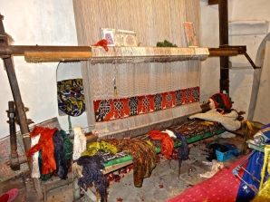::silk carpet weaving::