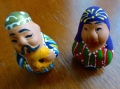 ::cute little Uzbek figurines we received as a welcome gift::