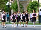 ::we found the cutest little girls while walking around::