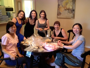"""::stuffing wedding favors with Patty's famous M&M cookies (aka eating all the """"broken"""" ones)::"""