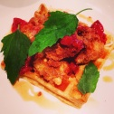 ::ridiculous duck and waffles at momofuku ssam::