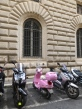 ::can't get more Italian than a pink vespa, can it?::