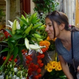 ::if you can't stop to smell the (lilies) while in Paris with your love, when can you?::