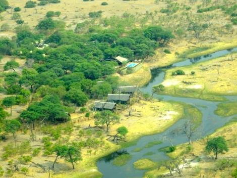 ::Savute Lodge from the air::